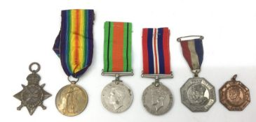 WW1 British 1914-15 Star to K24541 SJ Rule, Sto 2 RN (No ribbon), WW1 Victory Medal complete with