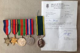 WW2 British Medal group to 908538 Gnr SJ Black, Royal Artillery comprising of 1939-45 Star, Burma