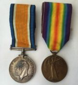 WW1 British War Medal and Victory Medal to 17228 Pte CW Ireland, Lincolnshire Regiment. Complete
