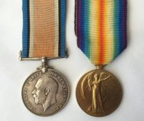 WW1 British War Medal and Victory Medal to 24420 Pte H Speechley, Suffolk Regiment. Complete with