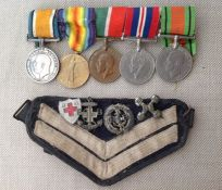 WW1/WW2 British RAF Medal Group comprising of WW1 British War Medal and Victory Medal to 224031