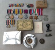 WW1 / WW2 British Military Medal Group comprising of WW1 Military Medal to 25947 Sjt .F.G. Powell.