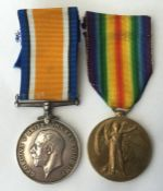 WW1 British War Medal and Victory Medal to 25136 2 AM W Blamires, RAF. Complete with original
