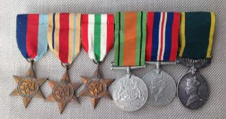 WW2 British Medal Group to 2575696 Drv AW Lay, Royal Signals comprising of 1939-45 Star, Africa