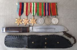 WW2 South African Medal group comprising of 1939-45 Star, Africa Star, Italy Star, Defence Medal War