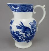 An early nineteenth century blue and white transfer printed Coalport jug, c.1800. It is decorated