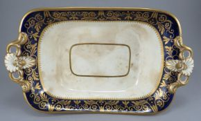 An early nineteenth century Ridgway two-handled serving dish, c.1825. It is decorated with gilding