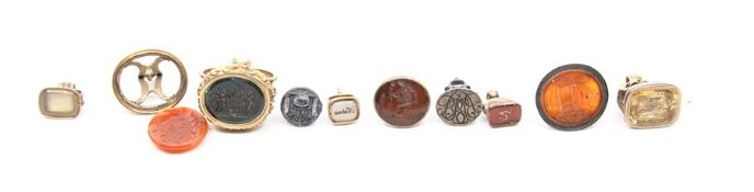 A collection of ten various late George III seal f