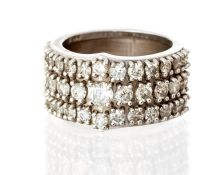 An 18ct white gold diamond dress ring with heavy s