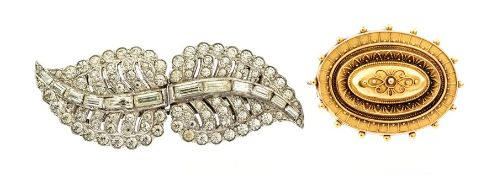 A Victorian 15ct Target Brooch with wirework decor