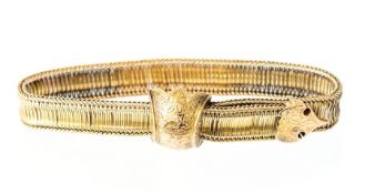 A yellow gold adjustable strap Bracelet, the artic
