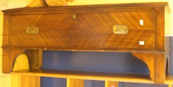 ***LOCATED AT GRESLEY***An early 20th Century mahogany wardrobe base, fitted with a single drawer