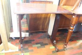 ***LOCATED AT GRESLEY**** A mahogany 19th Century side table with scrolled feet, upper section
