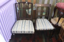 Two 19th Century mahogany dining chairs