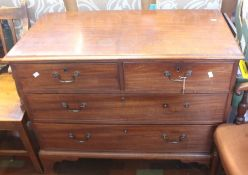 ***LOCATED AT GRESLEY****An early 19th Century mahogany chest of drawers, comprising two short