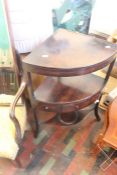 ***LOCATED AT GRESLEY****A George III mahogany corner washstand, circa 1800, with a hinged lid and