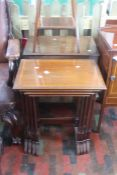 ***LOCATED AT GRESLEY****A collection of furniture comprising an Edwardian four piece nest of