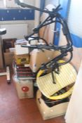 ***WITHDRAWN*** A 1990's exercise bike, pictures, prints, magazines, wall clock, DVDs, wooden