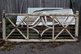 ****LOCATED AT ETWALL****A 19th / early 20th Century white painted wooden gate, lattice work,