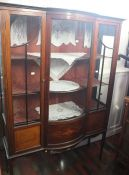 ***LOCATED AT GRESLEY**** Edwardian serpentine glazed mahogany living room display cabinet with