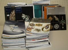 A large quantity of jewellery auction catalogues, principally Bonhams and Wooley and Wallis and a