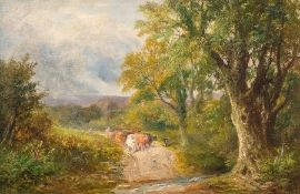 George Turner (British, 1843-1910), Sweet Water Lane, signed l.r., titled verso, oil on board, 29 by
