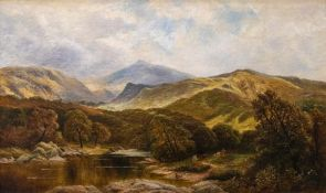 George Turner (British, 1843-1910), On the Lledr, North Wales, signed l.r., titled verso, oil on