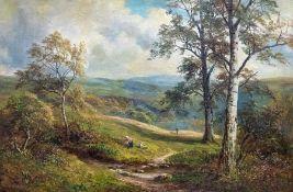 George Turner (British, 1843-1910), Knowle Hills, Derbyshire, signed l.l., titled verso, oil on