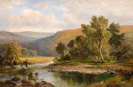 George Turner (British, 1843-1910), On the Dove, Derbyshire, signed l.r., titled verso, oil on