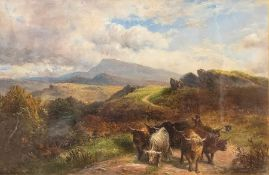 George Turner (British, 1843-1910), Dawn from the Hills, signed l.r., titled verso, oil on canvas,