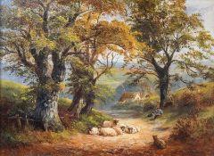 George Turner (British, 1843-1910), Near Windley, Derbyshire, signed l.r., titled verso, oil on