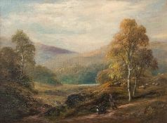 George Turner (British, 1843-1910), In the Derbyshire Hills, signed l.r., titled verso, oil on