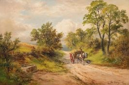 George Turner (British, 1843-1910), A Lane near Knowle Hills, Derbyshire, signed and dated 1892 l.