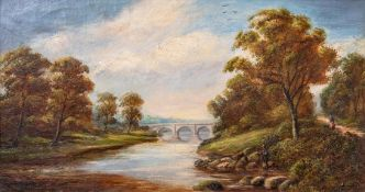 George Turner (British, 1843-1910), A River Idyll, signed l.r., titled verso, oil on canvas, 24 by