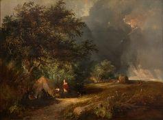 E. C. Williams (British, 19th Century), A Gypsy Encampment, oil on canvas, 45 by 60cm, gilt frame C
