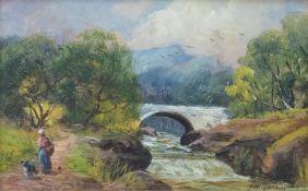 George Turner (British, 1843-1910), A Rocky Torrent, signed l.r., titled verso, oil on board, 15