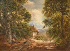 George Turner (British, 1843-1910), Sunshine and Shade, signed and dated 1905 l.r., titled verso,