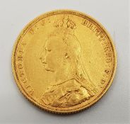 """An 1893 Victoria """"Jubilee bust"""" gold sovereign,Melbourne mint."""