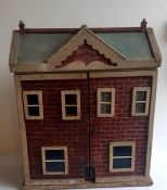 """""""Daisy Cottage """" 1905 an untouched original dolls house Folk art interest 27inches high , 56inches"""