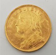 Switzerland: A 1935 L-B Vreneli 20 franc gold coin, Bern mint