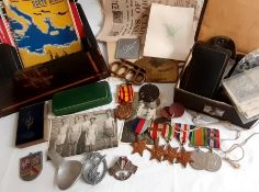 A soldiers story, WW2 interest, GROUP MEDALS WITH BAR awarded to Sgt J GRIFFITHS 548181 with