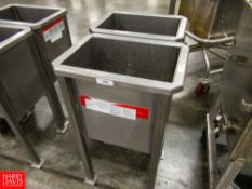 Lot of (2) Parts Soaking Bins, Located In Dry Storage - Rigging Fee: $ 50