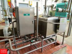 "2 Tank Skid Mounted CIP System With (2) 24"" x 24"" x 30"" Tanks, with 16"" x 16"" MH, 30 hp/3525 RPM,"