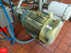 "30 HP Centrifugal Pump, 3530 RPM, 3""x 3"", 208-230/460V, Located In: Raw Receiving - Rigging Fee: $"