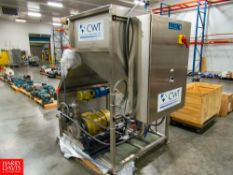 New CWT System Clean Water Skid Includes 30 HP Centrifugal Pump, Seepex Progressive Cavity Pump,
