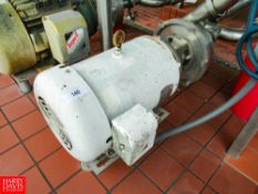 "20 HP Centrifugal Pump, 3520RPM, 230/460V, 3""x 3"", Located In: Raw Receiving - Rigging Fee: $ 100"