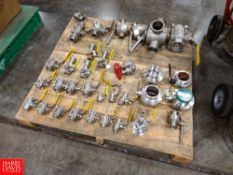 Lot of (34) Assorted S/S Valves, Located In Dry Storage - Rigging Fee: $ 50