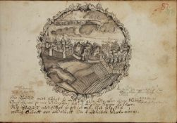"""(Mller, Gotth. Timotheus).Album. Engl., franz""""s., latein., griech. u.hebr""""ische Handschrift auf"""