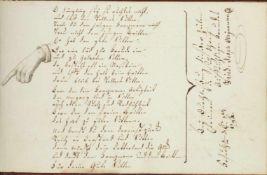 "Miville, Johann Jacob.Denckmahl Der Freundschafft gewidtmet. Dt. u.franz""s. Handschrift auf"