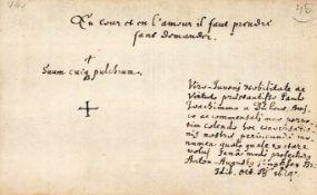 """16 Einzelbl""""tter aus verschied. Stammbchern. Um1613-1664. Ca. 10:148 mm.Paul Joachim von Blow. 5"""